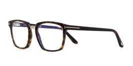 Tom Ford TF5523-B 052 Havana Men's Squared Eyeglasses Frame 5523 NEW Blue Block - $135.93