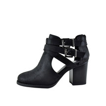 Soda SCRIBE-S Black Women's Double Buckle Ankle Strap Booties - $27.95
