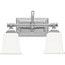 Quoizel NL8602C Nicholas 2-Light Bath Light, Polished Chrome - $110.29