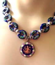 Murano Glass Ornament from Venice on Beautifully Crafted Necklace - $125.00