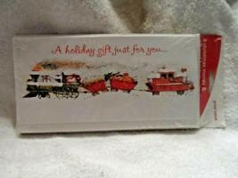 American Greetings 8 Christmas card moneyholders + 8 envelops, Train - $5.00