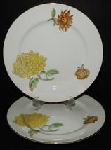 2 Kent Verona China Dessert Salad Plates Occupied Japan Chrysanthemums G... - $29.69