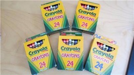 Crayola Crayons of 5 Boxes New 24 per Box Crafts Color Art Kids Draw Sch... - $9.89