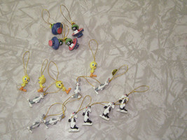 Looney Tunes Mini Ornaments Lot Tweety Marvin The Martian Sylvester Bugs... - $19.99