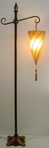 Black gold 5 ft spiral polyester hanging shade metal electric floor lamp... - $69.00