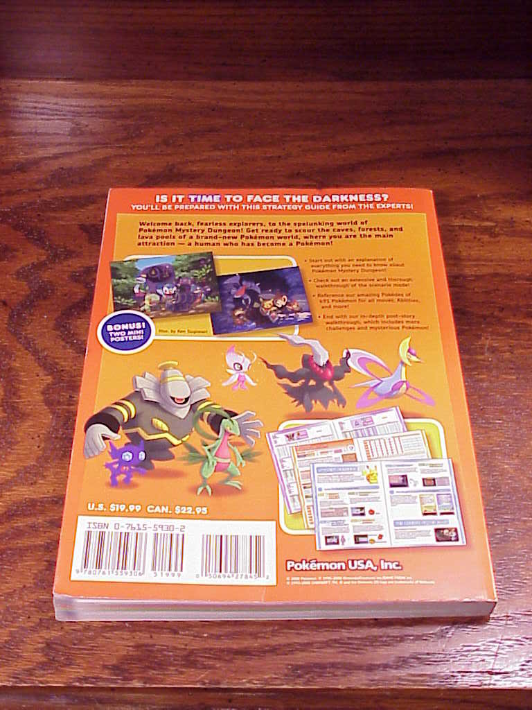 Pokemon Mystery Dungeons Explorer Strategy Guide Book
