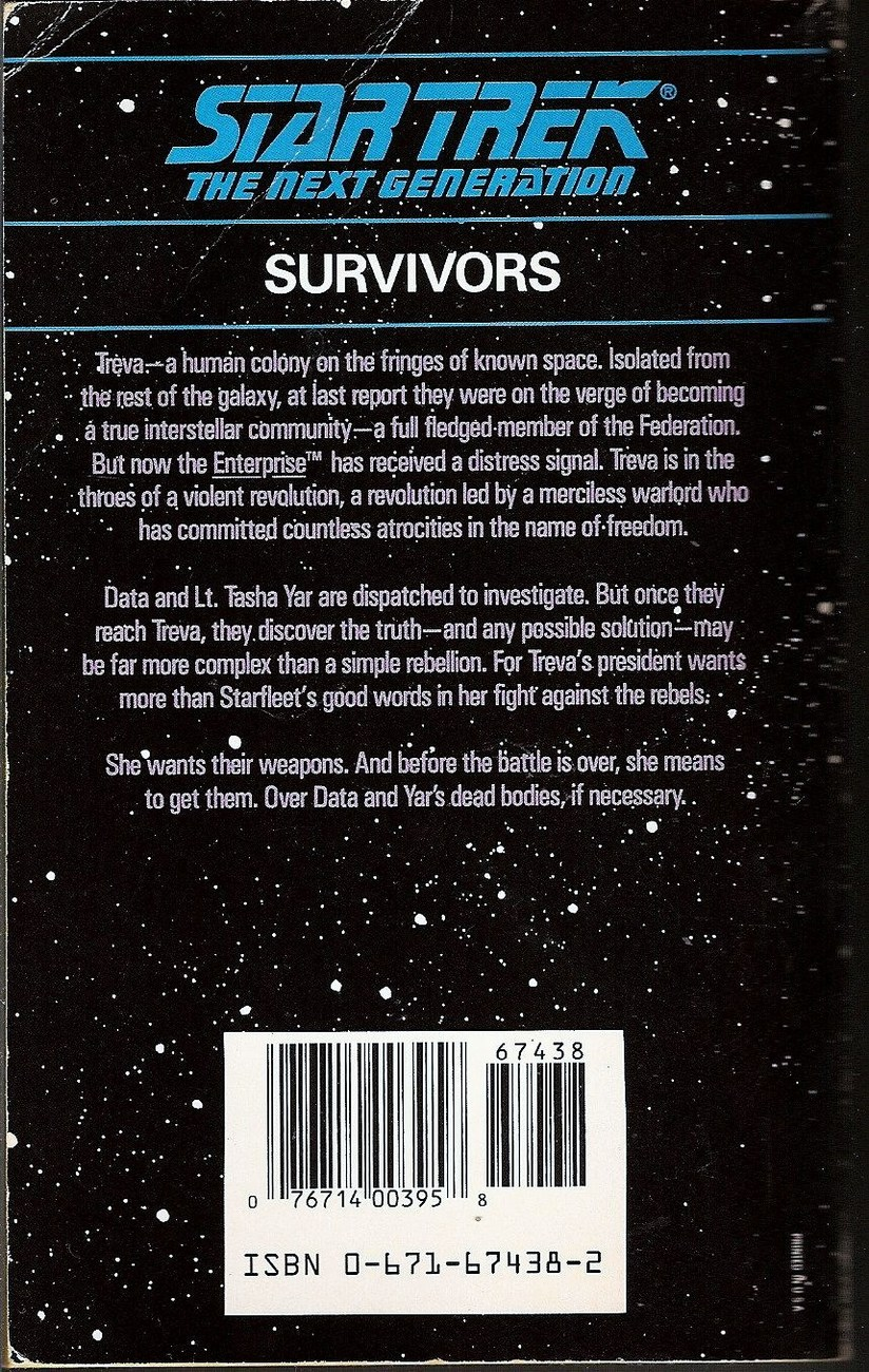 Survivors Star Trek The Next Generation No 4 by Jean Lorrah