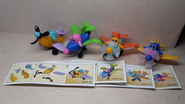 Kinder - K03 58-61  Funny airplanes - complete set + 4 papers - surprise eggs - $4.50