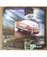 "VOLVO spiral-bound Brand BOOK catalog brochure ""What Makes a Volvo"" 1999... - $12.00"