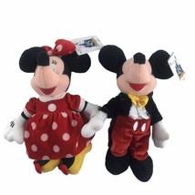 2000 Disneyland 45th Anniversary Mickey And Minnie Bean Bag Plush Disney New - $27.88