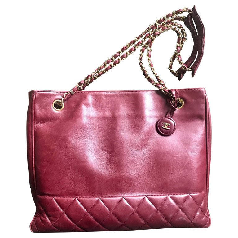 f594f74cb9bc Vintage CHANEL wine leather tote bag with and 50 similar items. Il  fullxfull.1430145818 aoap