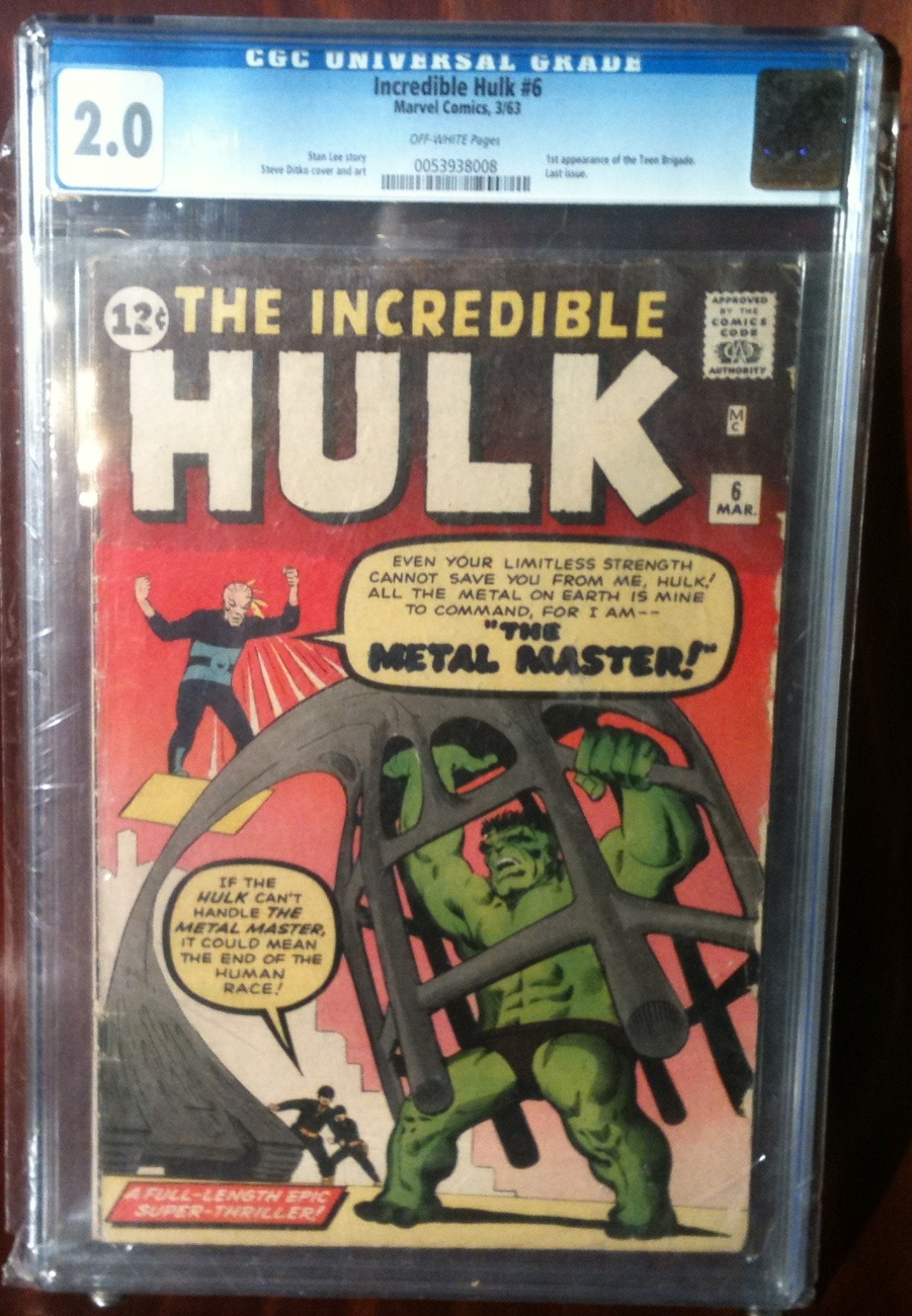 Incredible Hulk (1962) # 6 CGC Graded 2.0 GOOD