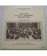 1978 P.A.S.IC. Marimba Orchestra - LP - $11.50