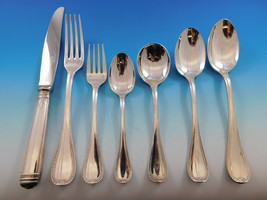 Malmaison by Christofle Silverplate Flatware Service for 8 Set 65 Pieces Dinner - $3,415.73