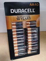 Duracell AA 40ct battery pack 40 batteries coppertop WORLDWIDE SHIPPING ! - $19.99
