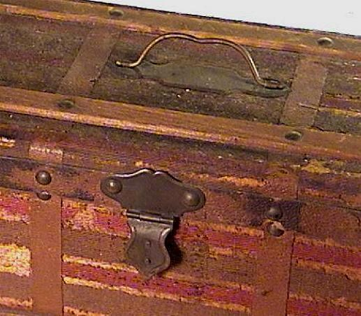 Old Doll Trunk with Removable Tray Ca.1870 Antique