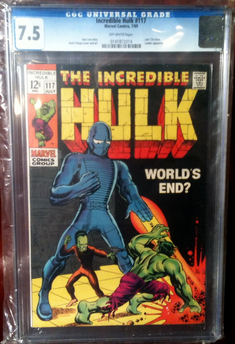 Incredible Hulk (1962) # 117 CGC Graded 7.5 VF-