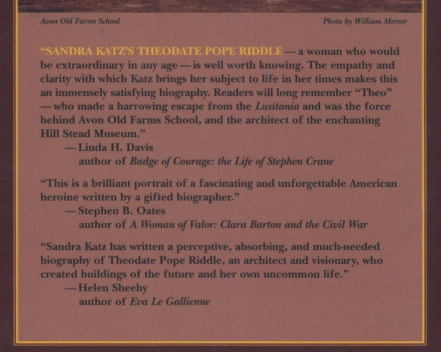 Katz--DEAREST OF GENIUSES--2003, hb/dj--female architect