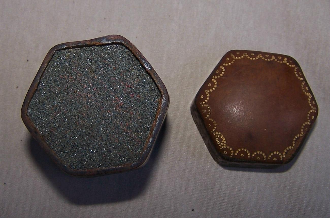 Antique Match Box Leather  2.25  English  1899  Antique