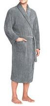 Majestic International Mens Plush Fleece Robe Marled Charcoal - $29.69