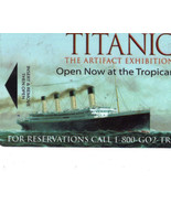 TITANIC The Artifact Wchibition TROPICANA Collectible Room Key - $4.95