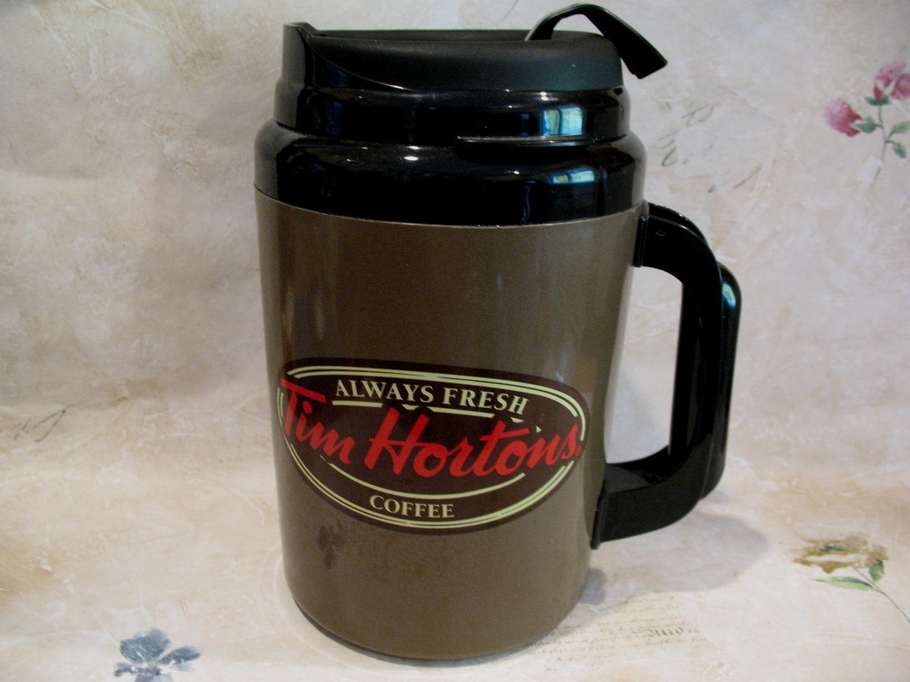 Tim Hortons Coffee Thermos Cup Mug Canada Souvenir HUGE Size English French