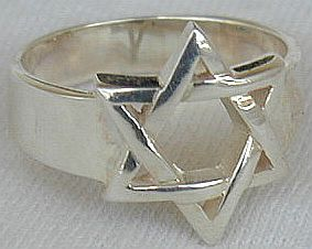 Star of david ring a 3