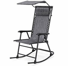 Outdoor Folding Lawn Rocking Chair Zero Gravity with Canopy Patio Furniture - $89.99