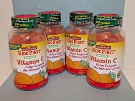 4 Bottles Nature Made Kids Vitamin C Gummies Tangerine Flav 110 Ct Ea 3/... - $54.44