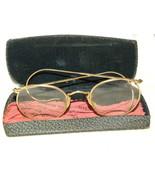 Eyeglasses Gold Wire Frame W Case - $20.00
