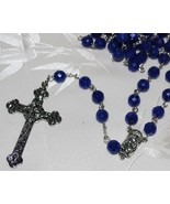 Rosary 8MM Blue Lapis Beads - $125.00