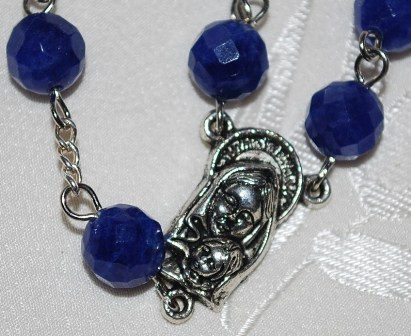 Rosary 8MM Blue Lapis Beads