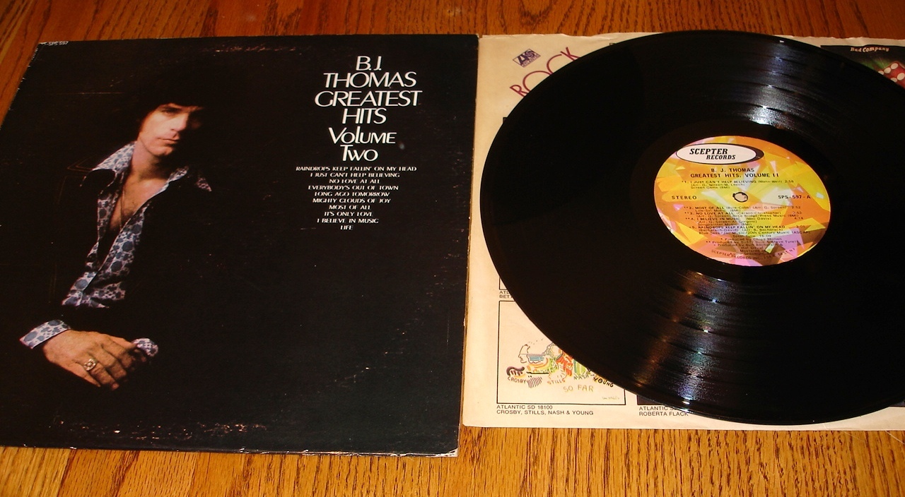 B. J. THOMAS GREATEST HITS VOLUME TWO ORIGINAL LP
