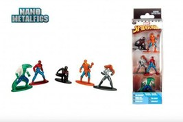 Marvel Spiderman Exclusive Pack A Action Figures/Toys 5CT Nano Metalfigs - $10.88
