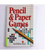 Pencil and Paper Games Paperback Book 1992 Karl Heinz Koch Entertainment... - $9.99