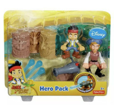 Fisher-Price Jake Never Land Pirates Hero Pack Shooting Cannon & Flynn New - $18.69