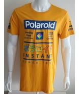 Polaroid Mens Graphic Tee Yellow 100% Cotton Size L XL - $22.93