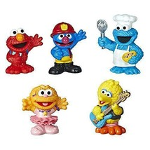 Sesame Street Neighborhood Friends Includes 5 Figures, 3-inches, Classic... - $34.59