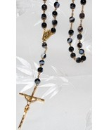 Black Sardonyx Rosary- Genuine Natural Beads - $185.00