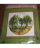 Vintage Kit~SUNSET DESIGNS~Apple Time~(country summer scene) - $12.50