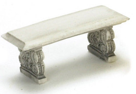 "DOLLHOUSE MINIATURE 1/2"" 2 PC GRAY BENCH SET #A2119GY - $9.99"
