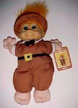 "Russ Wee Troll Kidz Samuel the Pilgrim Doll 9"" Orange Hair New with Hang Tag - $24.74"