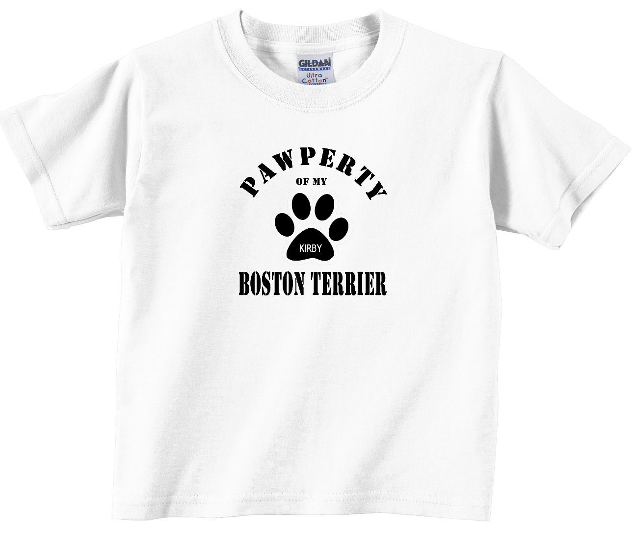 Boston terrier custom dog personalized t shirt t shirts for Boston rescue 2 t shirt