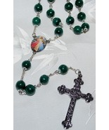 10MM Green Malachite Rosary Beads- A RARE FIND! - $225.00
