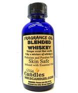 Blended Whiskey 4oz / 118.29ml Blue Glass Bottle of Premium Grade A Frag... - $15.92