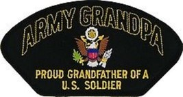 PROUD ARMY GRANDPA  GRANDFATHER  OF A U.S. SOLDIER EMBROIDERED MILITARY ... - $15.33