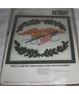 Vintage Kit~Bernat~EAGLE OF FREEDOM~(wall hanging or pillow) - $12.45