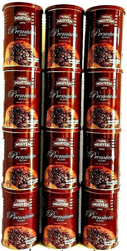 Primary image for Trung Nguyen Premium Blend Ground Coffee 15 oz ( Pack of 12 )