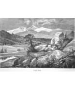 COLORADO Rocky Mountains Long's Peak - 1883 German Print - $21.60