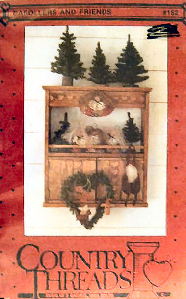 "Pattern""Carollers and Friends""  5 fabric ornaments"